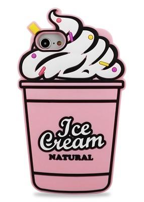Чехол для iPhone 6/7/8 Ice cream natural (Розовый)