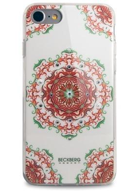 Чехол для iPhone 7 Beckberg Exotic (Красный узор)