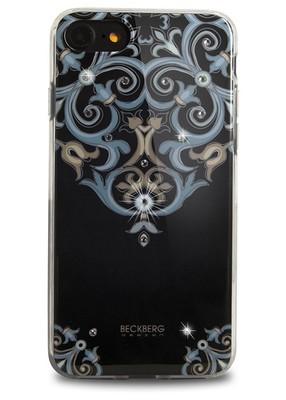 Чехол для iPhone 7 Beckberg Exotic (Узор на черном)