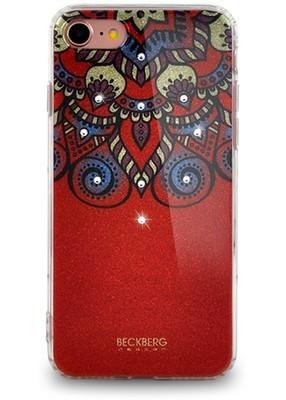 Чехол для iPhone 7 Beckberg Golden Faith (Красный)