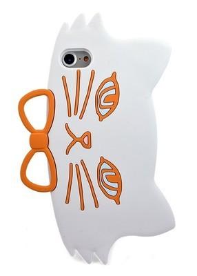 Чехол для iPhone 7 Cat gentleman (Белый)