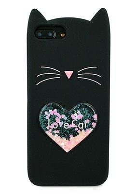 Чехол для iPhone 6+/7+/8+ Love Cat (Черный)
