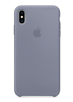 Чехол для iPhone XS Max Apple Silicone Case Lux (Lavender gray)