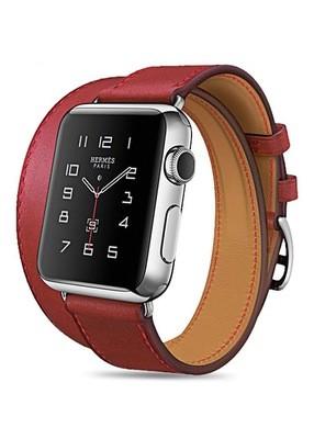 Ремешок для Apple Watch 38mm Smooth Skin (Красный)