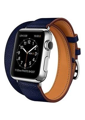 Ремешок для Apple Watch 38mm Smooth Skin (Синий)