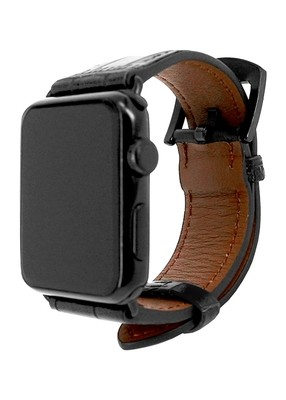 Ремешок для Apple Watch 38mm Embossed Skin (Черный)