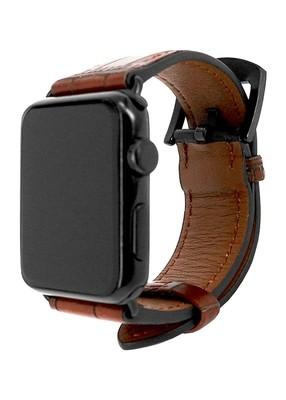 Ремешок для Apple Watch 38mm Embossed Skin (Коричневый)