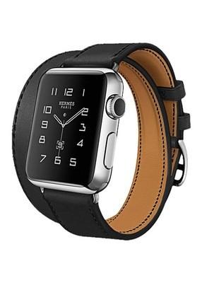 Ремешок для Apple Watch 38mm Smooth Skin (Черный)