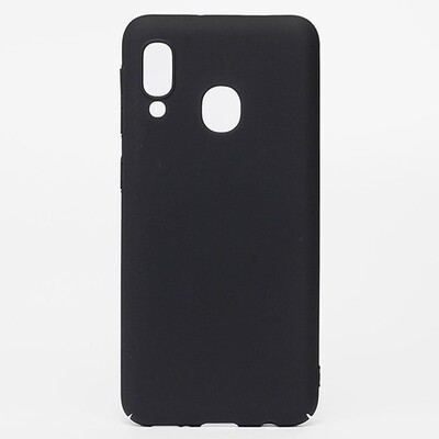 Чехол-накладка с покрытием soft-touch для смартфонов Samsung Galaxy A (A01 Core, A01, A10, A11, A20, A20s, A21s, A30,  A30s, A31, A40, A41, A50, A50s, A51, A70, A71, A80) черный