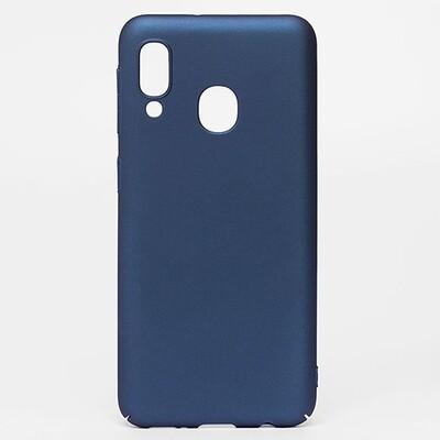 Чехол-накладка с покрытием soft-touch для смартфонов Samsung Galaxy A (A01 Core, A01, A10, A11, A20, A20s, A21s, A30, A30s, A31, A40,  A41, A50, A50s, A51, A70, A71, A80) синий