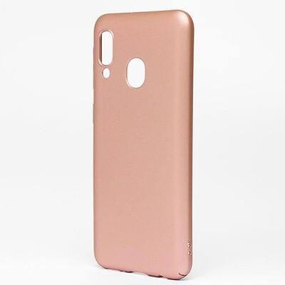 Чехол-накладка с покрытием soft-touch для смартфонов Samsung Galaxy A (A01 Core, A01, A10, A11, A20, A20s, A21s, A30, A30s, A31, A40, A41, A50, A50s, A51, A70, A71, A80) золотой