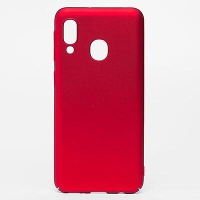 Чехол-накладка с покрытием soft-touch для смартфонов Samsung Galaxy A (A01 Core, A01, A10, A11, A20, A20s, A21s, A30, A30s, A31, A40, A41, A50, A50s, A51, A70, A71, A80) красный