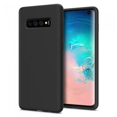 Силиконовый чехол для смартфонов Samsung Galaxy S (S8, S8+, S9, S9+, S10e, S10, S10+, S10 Lite, S20, S20+, S20 Ultra) черный
