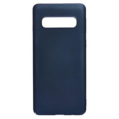 Чехол-накладка с покрытием soft-touch для смартфонов Samsung Galaxy S (S8, S8+, S9, S9+, S10e, S10, S10+, S10 Lite, S20, S20+, S20 Ultra) синий