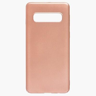 Чехол-накладка с покрытием soft-touch для смартфонов Samsung Galaxy S (S8, S8+, S9, S9+, S10e, S10, S10+, S10 Lite, S20, S20+, S20 Ultra) золотой