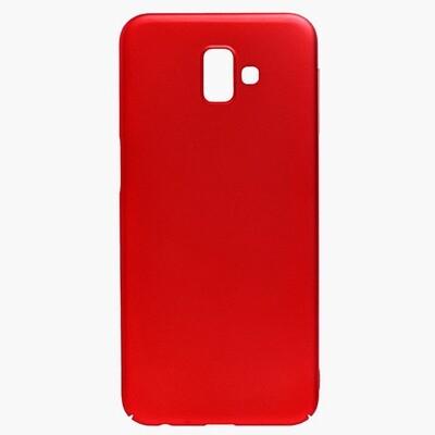 Чехол-накладка с покрытием soft-touch для смартфонов Samsung Galaxy S (S8, S8+, S9, S9+, S10e, S10, S10+, S10 Lite, S20, S20+, S20 Ultra) красный