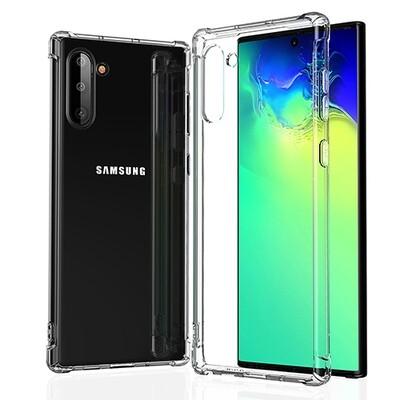 Силиконовый чехол для смартфонов Samsung Galaxy Note (9, 10, 10+, 10 Lite, 20, 20 Ultra) прозрачный