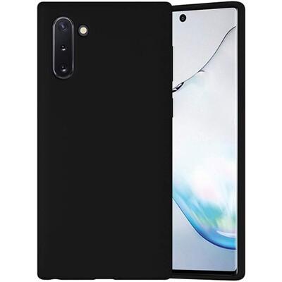 Силиконовый чехол для смартфонов Samsung Galaxy Note (9, 10, 10+, 10 Lite, 20, 20 Ultra) черный