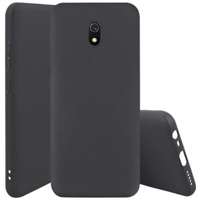 Силиконовый чехол для смартфонов Xiaomi Redmi (Go, 6A, 7A, 8A, 9A, 6, 7, 8, 9, S2) черный