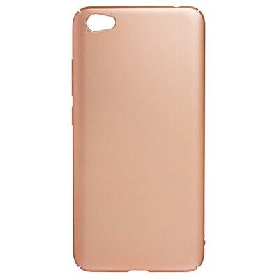 Чехол-накладка с покрытием soft-touch для смартфонов Xiaomi Redmi (Go, 6A, 7A, 8A, 9A, 6, 7, 8, 9, S2)  золотой