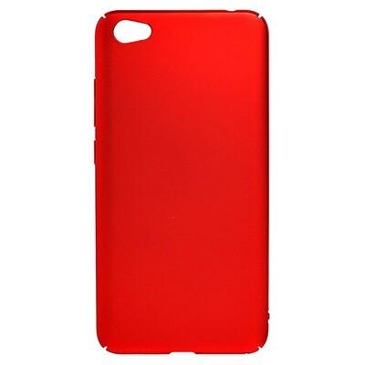 Чехол-накладка с покрытием soft-touch для смартфонов Xiaomi Redmi (Go, 6A, 7A, 8A, 9A, 6, 7, 8, 9, S2) красный