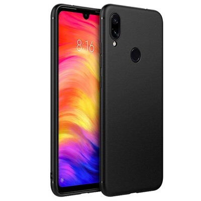Силиконовый чехол для смартфонов Xiaomi Redmi Note (4, 4X, 5, 6 Pro, 7, 8, 8T, 8 Pro, 9, 9S, 9 Pro, Mi Note 10, Mi Note 10 Lite) черный
