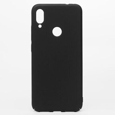 Чехол-накладка с покрытием soft-touch для смартфонов Xiaomi Redmi Note (4, 4X, 5, 6 Pro, 7, 8, 8T, 8 Pro, 9, 9S, 9 Pro, Mi Note 10, Mi Note 10 Lite) черный