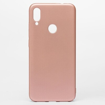 Чехол-накладка с покрытием soft-touch для смартфонов Xiaomi Redmi Note (4, 4X, 5, 6 Pro, 7, 8, 8T, 8 Pro, 9, 9S, 9 Pro, Mi Note 10, Mi Note 10 Lite) золотой