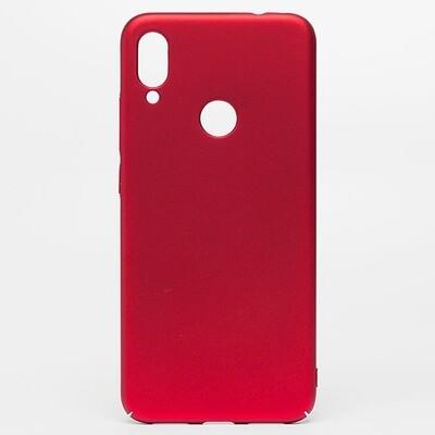 Чехол-накладка с покрытием soft-touch для смартфонов Xiaomi Redmi Note (4, 4X, 5, 6 Pro, 7, 8, 8T, 8 Pro, 9, 9S, 9 Pro, Mi Note 10, Mi Note 10 Lite) красный