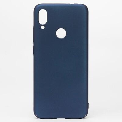 Чехол-накладка с покрытием soft-touch для смартфонов Xiaomi Redmi Note (4, 4X, 5, 6 Pro, 7, 8, 8T, 8 Pro, 9, 9S, 9 Pro, Mi Note 10, Mi Note 10 Lite) синий
