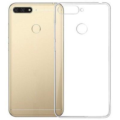 Силиконовый чехол для смартфонов Honor 7A, 7A Pro, 7A Prime, 7С, 7S, 8A, 8A Pro, 8C, 8S, 8S Prime прозрачный