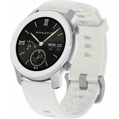 Умные часы Amazfit GTR 42mm aluminium case, silicone strap (white)
