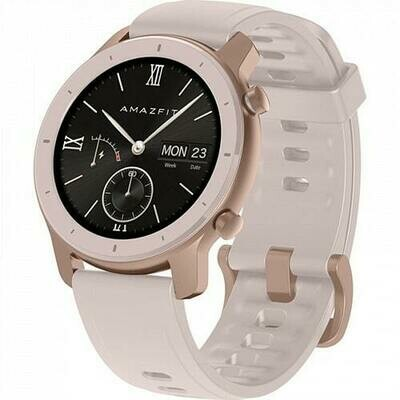 Умные часы Amazfit GTR 42mm aluminium case, silicone strap (pink)