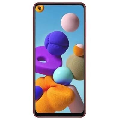 Смартфон Samsung Galaxy A21s 3/32GB RUS (красный)