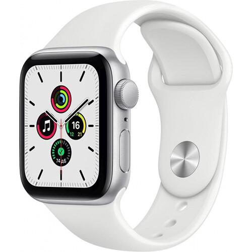 Умные часы Apple Watch SE, 40 мм, корпус из алюминия серебристого цвета, спортивный ремешок RUS