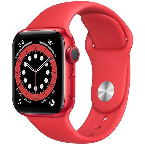 Умные часы Apple Watch Series 6, 40 мм, корпус из алюминия цвета (PRODUCT)RED, спортивный ремешок RUS