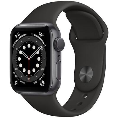 Умные часы Apple Watch Series 6, 40 мм, корпус из алюминия цвета «серый космос», спортивный ремешок