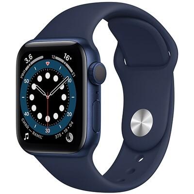 Умные часы Apple Watch Series 6, 40 мм, корпус из алюминия синего цвета, спортивный ремешок