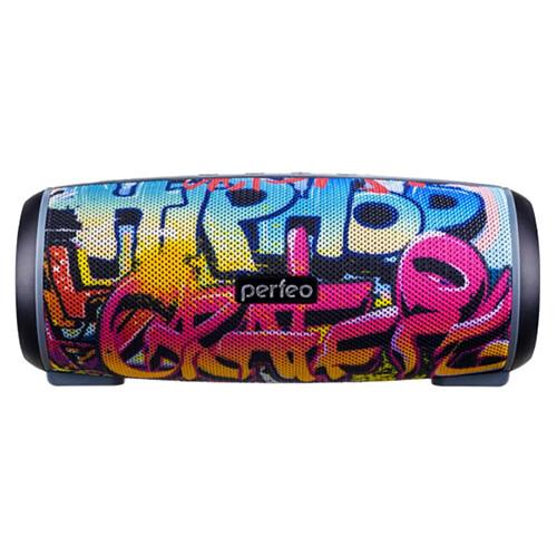 Bluetooth-колонка Perfeo «HIP HOP» FM, microSD, USB, AUX, мощность 12Вт, 2600mAh, граффити
