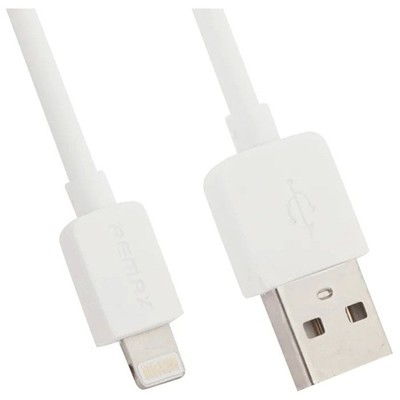 Кабель Apple Lightning Remax Light RC-006i 1.0m круглый 2.1A (белый)