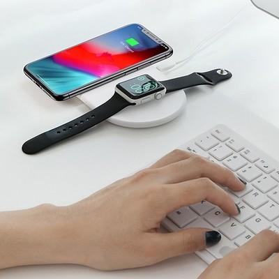 Беспроводное зарядное устройство Baseus Smart 2 в 1 Wireless Charger WX2IN1-02