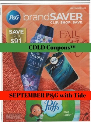 SEPTEMBER P&G WITH TIDE (LIMITED SUPPLY)