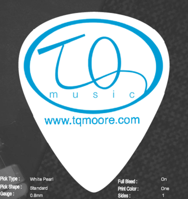 Custom TQ Music Logo Guitar Picks (10)