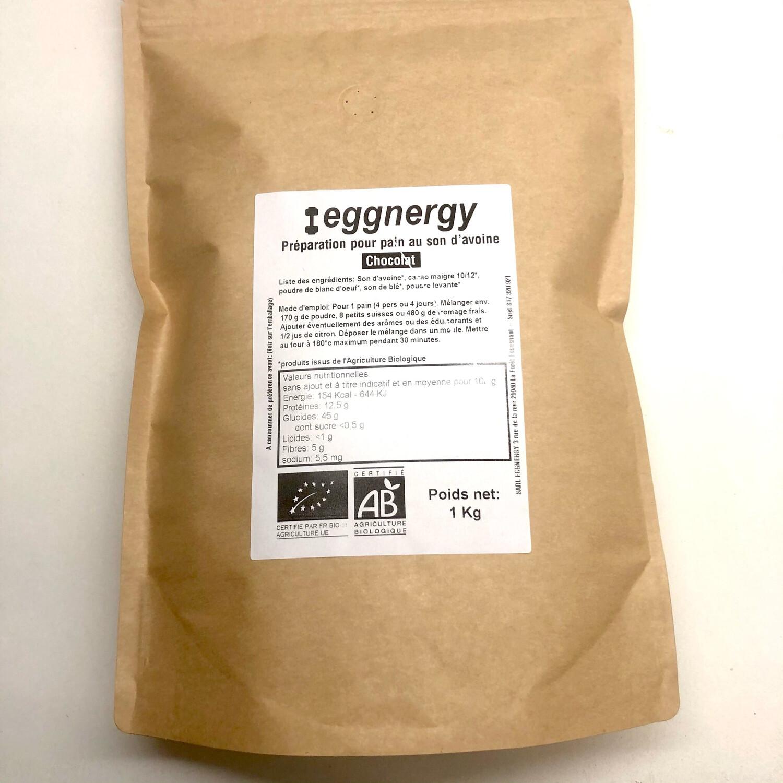 Préparation pour galettes protéinées bio au blanc d'œuf (cacao)  en 1 kg