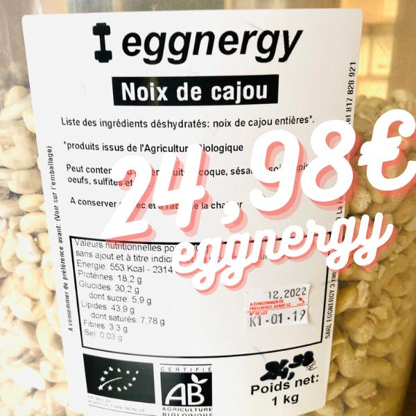 Noix de cajou Bio en 500 g (non salées)