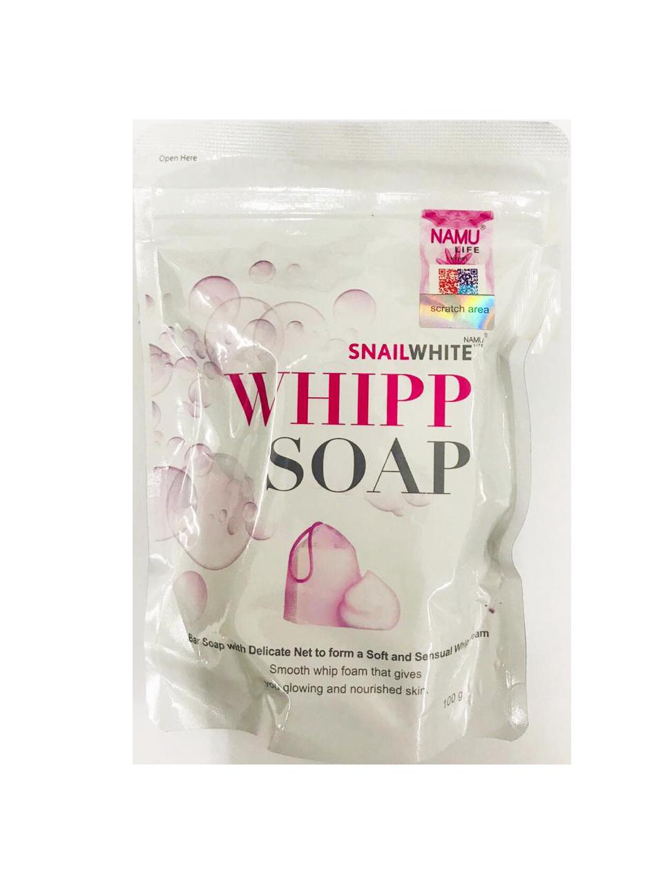 Snail White Whipp Soap 100g
