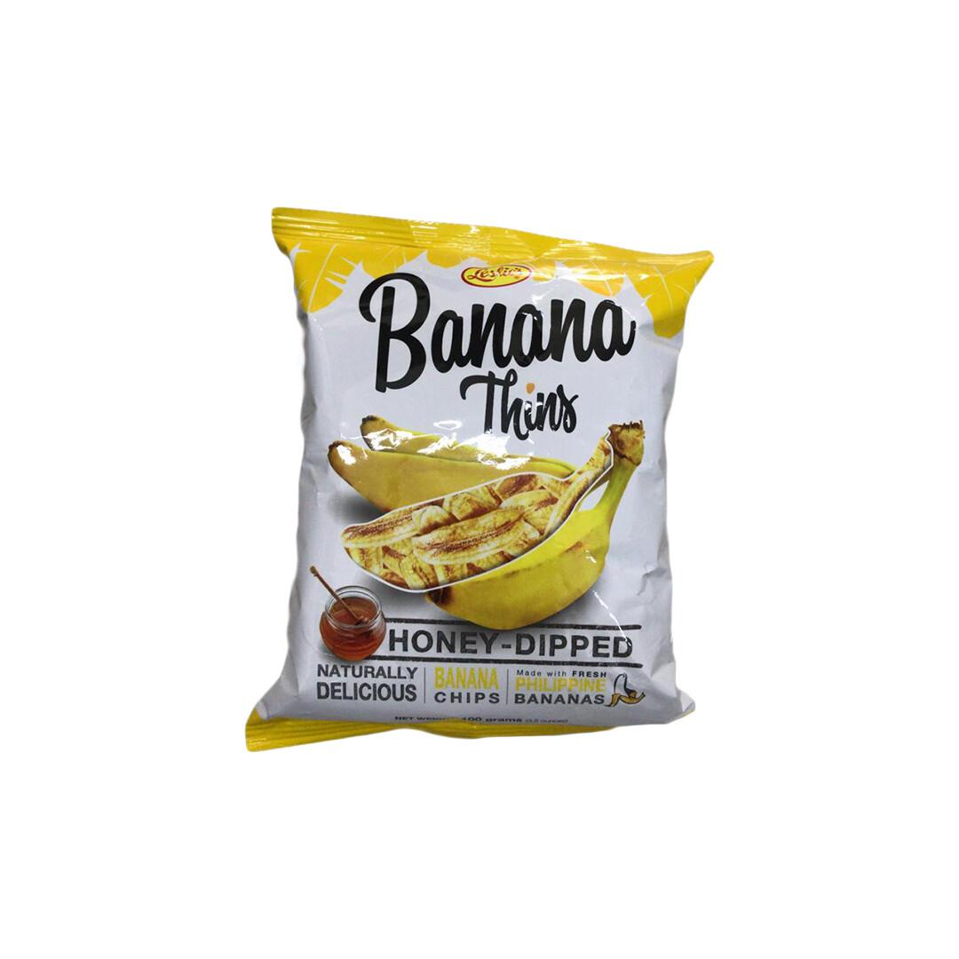 Leslie Banana Thins Honey-Dipped Chips 100g