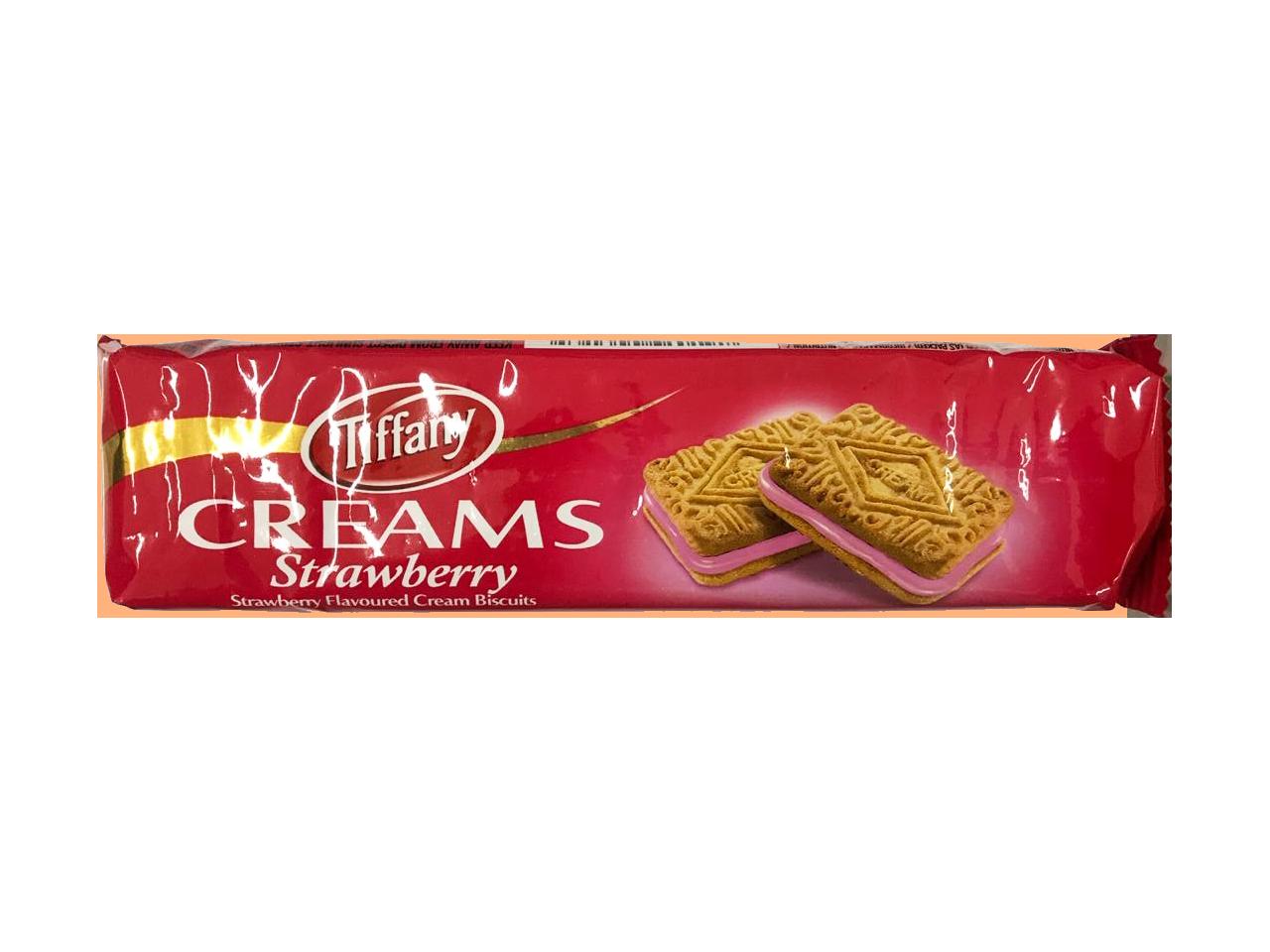 Tiffany Creams Strawberry Cream Biscuits 90g