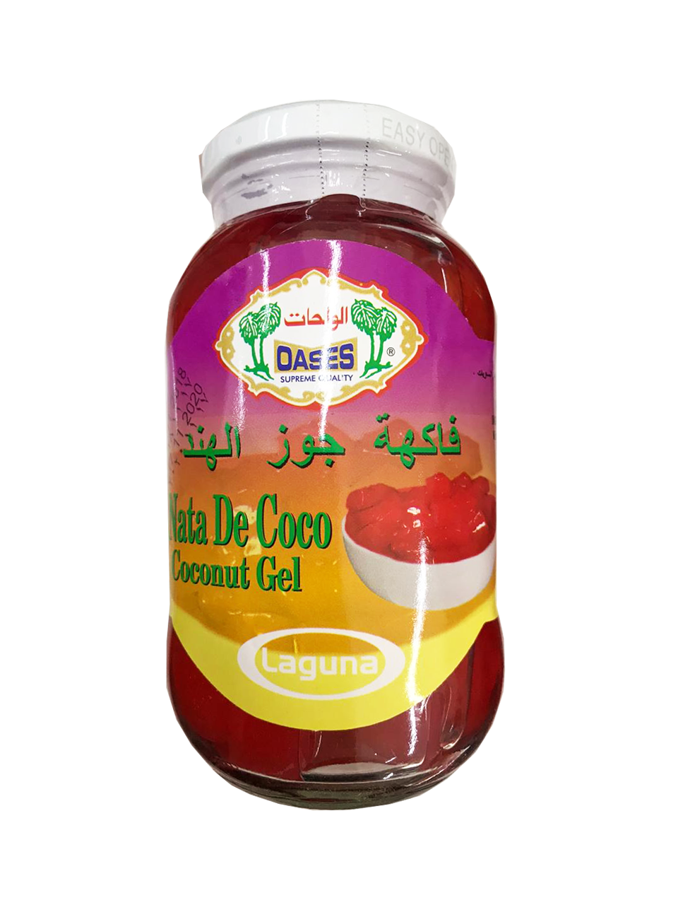 Oases Nata De Coco Coconut Gel - Red