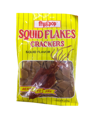 Fry & Pop Squid Flakes Cracker 200g